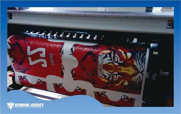 media printer jersey contoh pembuatan dengan motif harimau