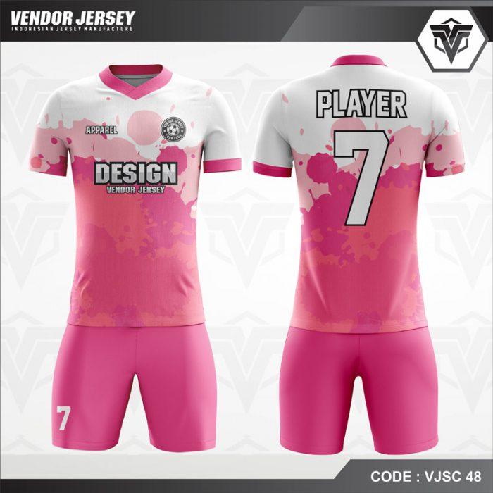 Desain Baju Futsal Warna Pink