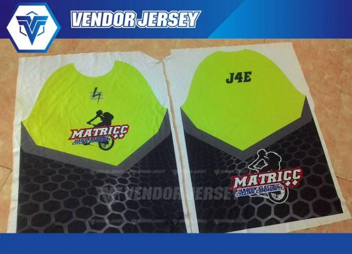 hasil printing jersey dengan pola downhill