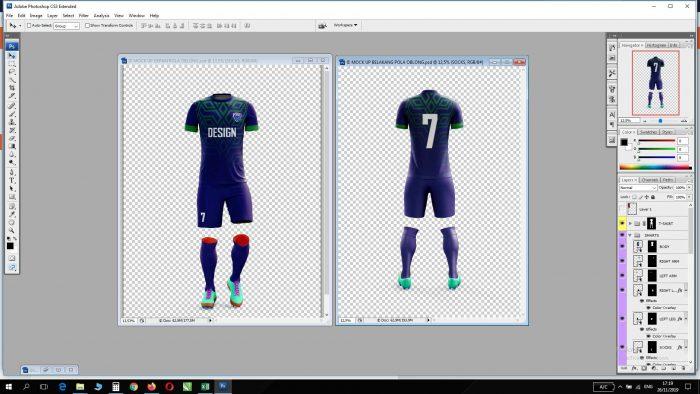 Download Mock Up Jersey Futsal Format Psd Gratis