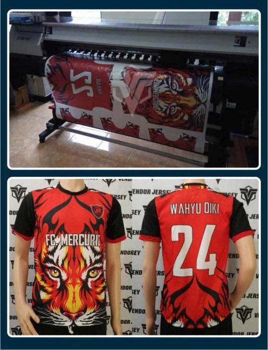 contoh produksi jersey futsal dengan gambar harimau