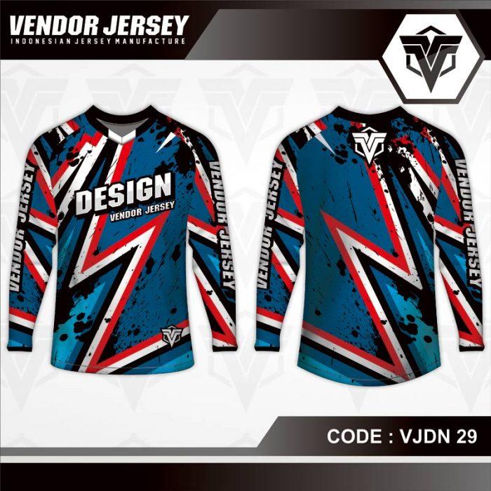 desain baju sepeda biru muda