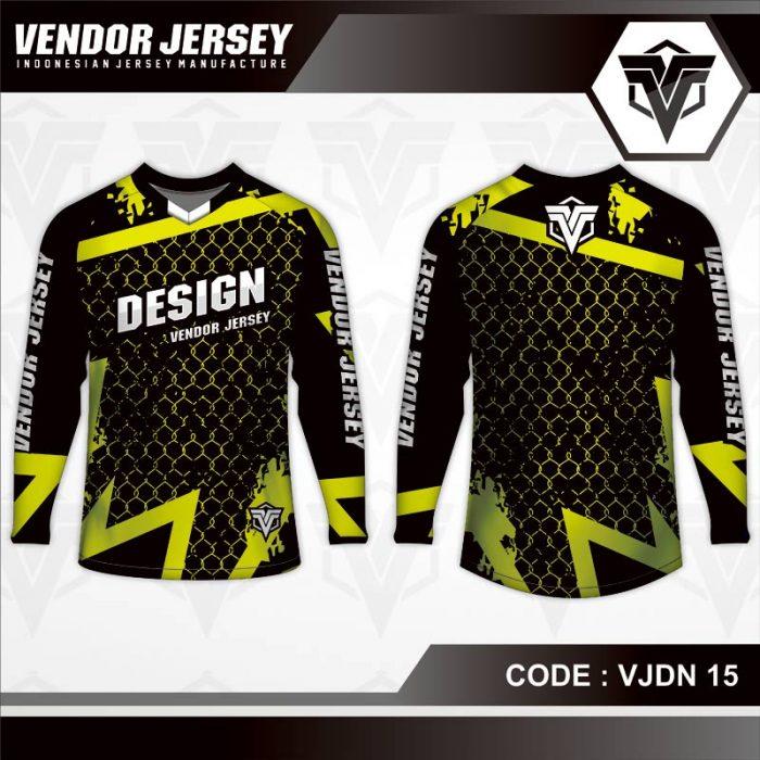 desain baju sepeda warna hitam