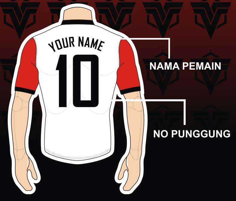 membuat font pada jersey